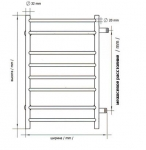Полотенцесушитель Виктория П5 400х630 БП м/о 500