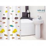 Тканевая штора для ванной комнаты TATKRAFT BLUE LAGOON 14640
