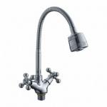 Смеситель Ledeme L4319-3 для кухни гибкий нос