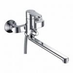 Смеситель Ledeme L2255-8 для ванны прямой нос дивертор в корпусе