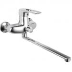 Смеситель Edeny E5228В для ванной (силумин) прямой нос диввертор в корпусе