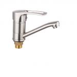 Смеситель Edeny E15201 для кухни короткий нос сатин