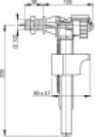 """Клапан для унитаза ALCAPLAST А16/2 1/2"""" бок. металлическая резьба"""
