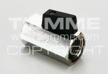 """Кран TIEMME SMALL 1/2"""" 2900036 м/м черный рычаг мини,латунь хромированный"""