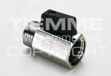 """Кран TIEMME SMALL 1/2"""" 2900003 п/м черный рычаг мини,латунь хромированный"""