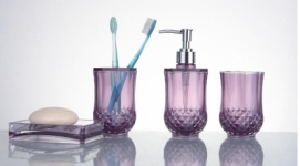 Набор для ванной Ledeme L421-4 акрил, фиолетовый