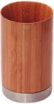 Бонья 282330 Стакан для ванной комнаты бамбук нержавеющая сталь