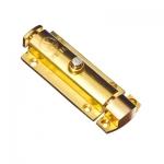 Шпингалет ORSO-31 полуавтомат, м/пл 65мм, золото