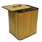 Корзина для белья VETTA квадрат 35х30х40 50л, бамбук