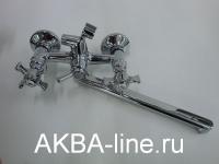 Смеситель D-Lin D145807-F для ванны барашки(силумин)