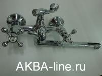 Смеситель D-Lin D147810-F для ванны барашки, прямой нос (силумин)