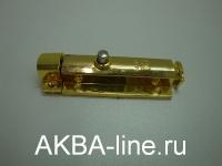 Шпингалет ORSO-30 полуавтомат, пластиковый 70мм, золото