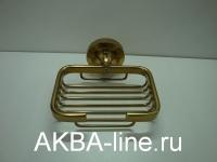 """Мыльница """"Edeny"""" Е5806 металлическая решетка навесная бронза"""