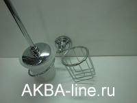 Щётка для унитаза Edeny Е2811-1 с держателем для освежителя воздуха