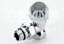 """Вентиль TIEMME 3300016 G 1/2"""" угловой с термостатом, америка (хром)"""