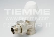 """Вентиль TIEMME 3320001 G 1/2"""" угловой MAXIMA, для ст.трубы"""