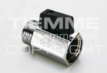 """Кран шаровый TIEMME SMALL 1/2"""" 2900001 п/м черный рычаг мини, хромированный"""