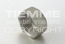 """Пробка-заглушка 1"""" внутренняя резьба TIEMME 1500247латунь никелированная 1880N"""