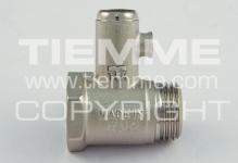 """Клапан TIEMME 1/2"""" предохранительный 1930002 8,5bar"""