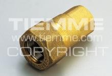 """Муфта 3/4"""" TIEMME 1500050 внутренняя резьба для стальных труб латунь 1592"""