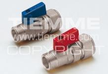"Кран TIEMME 16х2,2-1/2""н 2940052 алюминиевый рычаг синий PEX, хромированный корпус"