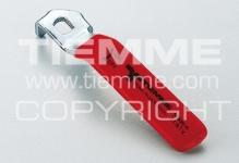 "Ручка-рычаг TIEMME 3/4"" 2090015 стальная плоская красная"