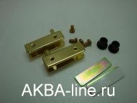 Шарнир для стекла металл золото ARMSTR