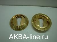 Ключевина к ручке дверной KORAL LE SG/GP (овал)