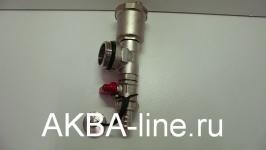 Тройник+воздухоотвод+сливной кран для подающего контура TIM ME306-4A