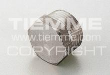 """Пробка-заглушка 3/8"""" наруж TIEMME 1500532 латунь никель 1878N"""