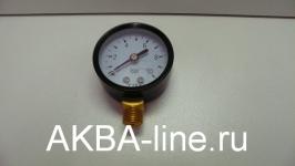 """Манометр 1/4"""" TIM Y-50 вертикальный (10bar)"""