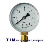 """Манометр 1/4"""" TIM Y-50 вертикальный(6bar)"""