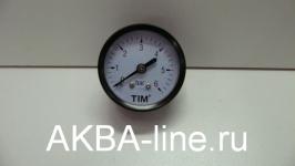 """Манометр 1/4"""" TIM Y-50T горизонтальный(6bar)"""