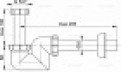 Сифон ALCAPLAST А-45F для биде d=40 пластик