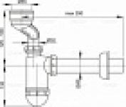 Сифон ALCAPLAST А-45А для писсуара эксц