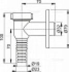 Сифон ALCAPLAST APS-1 для стиральной машины наружный хром