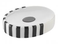 Купить AXENTIA KITANO 282390 Мыльница керамика, белая, черная в Перми цена