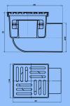 Трап для душа 15х15 АНИ ТА1110 D110 боковой слив,пластиковая решетка