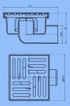Трап для душа 15х15 АНИ ТА5112 D50 бок. не регулируемая решетка, нержавеющая решетка