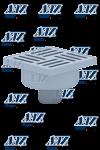Трап для душа 15х15 АНИ ТА5212 D50 прямой слив,не регулируемая решетка, нержавеющая решетка
