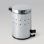 Ведро для мусора перфорированное, с педалью, 5л, нержавеющая сталь, арт. 695205