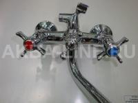 Смеситель KOSTA К1327В для ванны (силумин) барашки Х