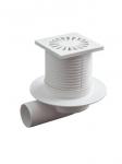 Трап для душа ОРИО ТО-3110 10х10 боковой пластмассовая решетка