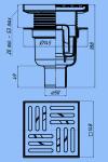 Трап для душа 15х15 АНИ ТА5712 D50 прямой слив, нержавеющая решетка