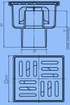 Трап для душа 10х10 АНИ ТА5202 D50 прямой слив, нержавеющая решетка