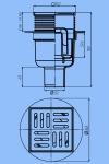 Трап для душа 10х10 АНИ TA5702 D50 прямой слив нержавеющая решетка