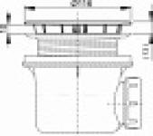 Трап для душа ALCAPLAST A-49CR90 1 1/2 D90 хром