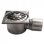 Трап для душа SER 811/1 10х10 D50 угловой слив нержавеющая сталь