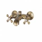 Смеситель Edeny E1503С для ванны короткий нос барашки бронза