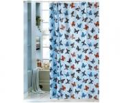 """Штора для ванной 180х180 """"Бабочки"""" 1506-1"""